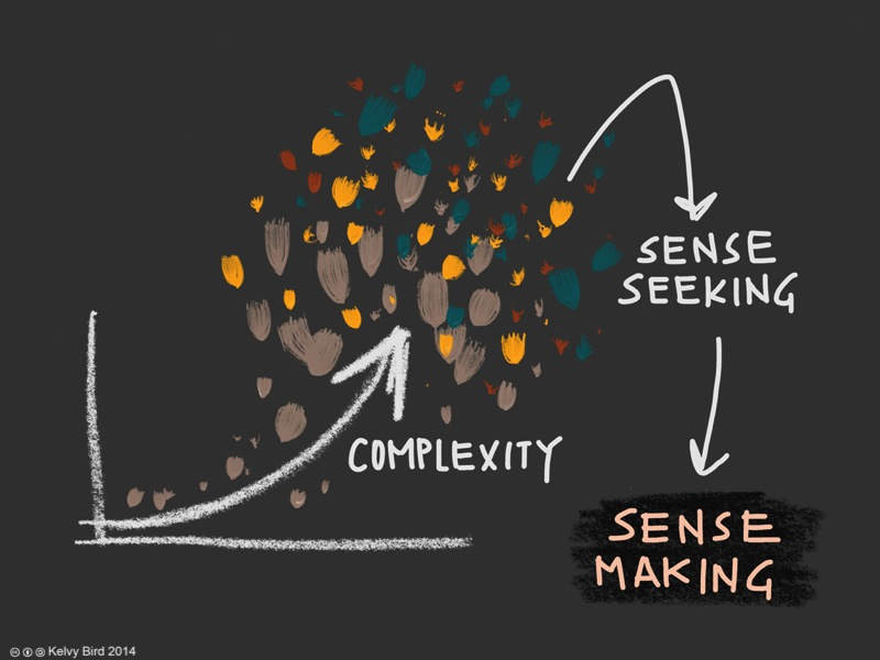 sense making Following on from the previous post 'sensemaking: into the void', what's a good everyday analogy or example on how to develop our skills in sensemaking and strategy.